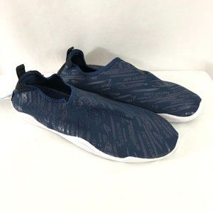Fantiny Mens Water Shoes Fabric Slip On Navy Blue